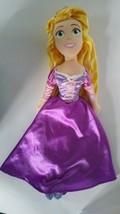 Large Disney Tangled Rapunzel Princess Purple Soft Plush Stuffed Doll 20... - $9.89