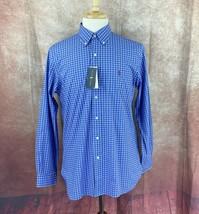 Ralph Lauren Polo Men's Classic Fit Stretch Cotton Blue Check NWT Shirt ... - $50.89