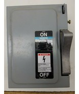 Siemens NF351 Safety Disconnect Switch 30A 600 VAC 3PH Type 1 Enclosure  - $23.21