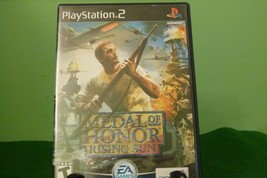 Medal of Honor Rising Sun (Black Label Sony PlayStation 2 PS2 2003)w/ Ma... - $8.86