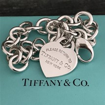 Please Return to Tiffany & Co Sterling Silver Heart Tag Charm Bracelet - $295.00
