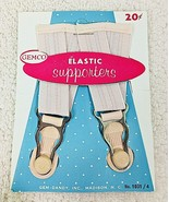 Vintage MOC Gemco Elastic Supporters Garter Bands Pink Never Used T81 - $18.32