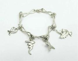 "Tiffany & Co. Paloma Picasso 0.925 Sterling Silver Charm Bracelet 7.5"" - $584.08"