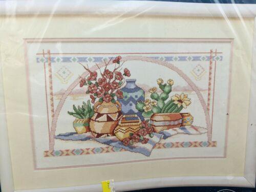 "Cross Stitch Kit Southwest Still Life VTG 1992 Sunset Dimensions 16""X10"" NOS  - $24.95"