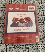 Brand New 10 x 8 Candamar Designs Red Hatters Counted Cross Stitch Kit 5... - $11.49
