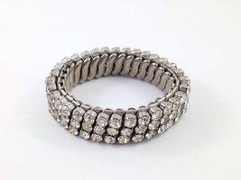 Quality Vintage Clear Rhinestone Expansion Bracelet, Quality, Rhinestone... - $15.00