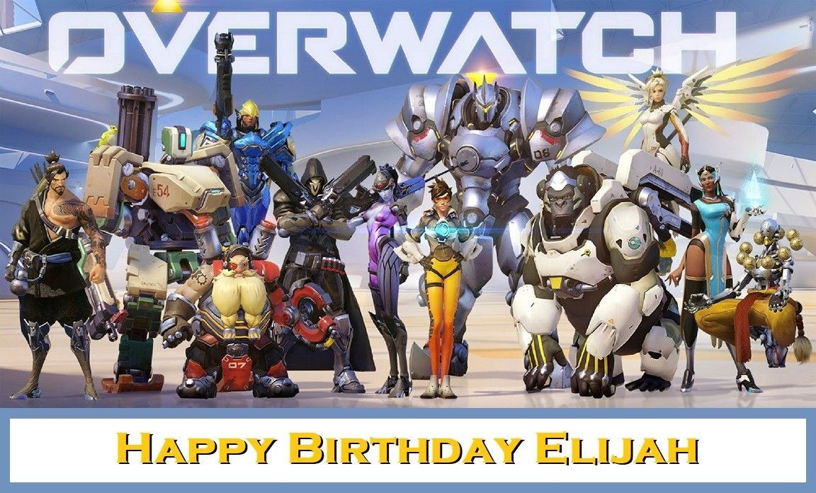 Overwatch Edible image Cake topper decoration - Candles ...