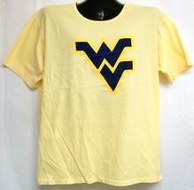 West Virginia Mountaineers Flying WV Yellow Tee Shirt Size XL - $14.73