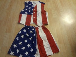 Women's Limited Edition S USA Flag Vest & Shorts - $34.83