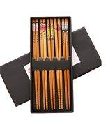 Kylin Express 5 Pairs Wooden Japanese Chopsticks Reusable Chop Stick wit... - $16.69