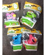 Playskool Sesame St Figurine Set of 4 Cookie Monster Oscar Elmo & Abby Caddaby  - £3.14 GBP