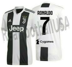 Adidas Cristiano Ronaldo Juventus Home Jersey 2018/19 Cygames Sponsor. - $155.00