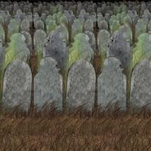 Beistle 00900 Graveyard Backdrop, 4' x 30' - $15.21