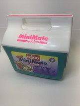 Vintage Igloo Mini Mate Personal Cooler Teal Pink Ice Chest - $33.24