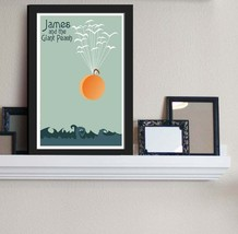 Flight of the Peach - James and the Giant Peach Inspired - Movie Art Poster - $8.86+