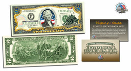 PEANUTS *SNOOPY RED BARON* Legal Tender USA 2 DOLLAR Bill *OFFICIALLY LICENSED*