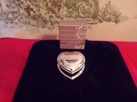 Vintage Avon 1987 Shiny silver Heart shaped Tender Memories Trinket/jewe... - $11.88