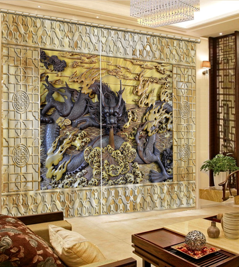 Chinese-Window-Curtains-Photo-wood-dragon-Blackout-Curtains-For-Living-Room-3D-B