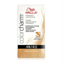 Wella Color Charm Permanent Liquid Haircolor  4N/411 medium brown - $10.00