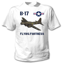 B-17 Flying Fortress Usa Wwii - New White Cotton Tshirt - $23.13