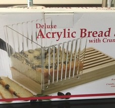 Norpro Deluxe Acrylic Bread Slicer with Removable Crumb Catcher NEW NIB - $19.24