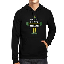 I Like To Lift Lifting Is My Favorite Black Hoodie - $25.99+
