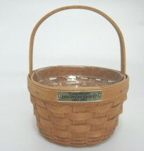 "Longaberger Discover Basket 1492-1992 6"" Round with Handle and Plastic L... - $15.83"