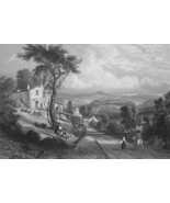 ITALY Orvieto - 1864 Fine Quality Print Engraving - $39.60
