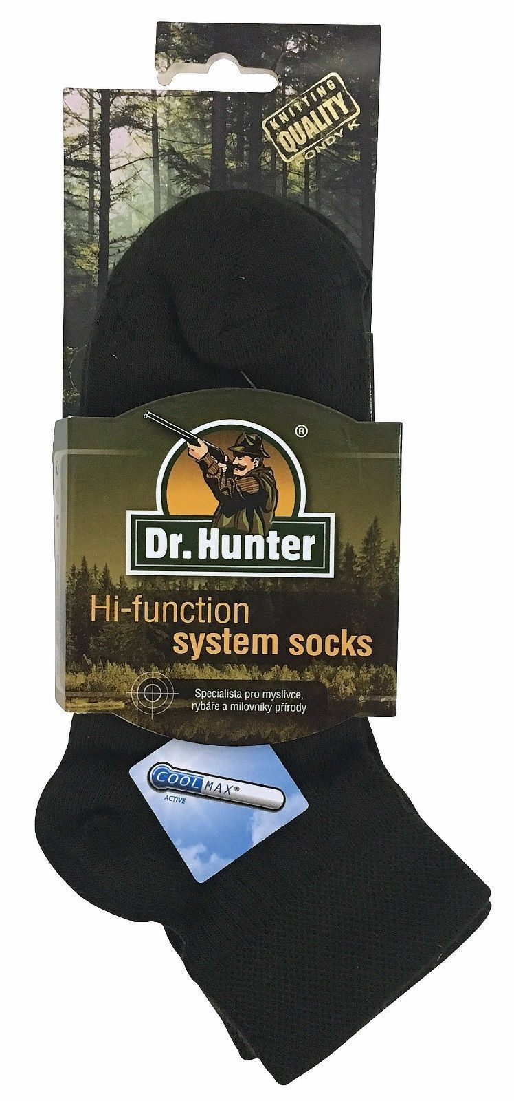 Dr Hunter - 2 Pack Mens Coolmax Thin Moisture Wicking Low Cut Ankle Hiking Socks