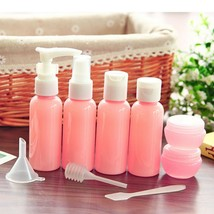 Multi-Styles Travel Size Beauty Lotion Bottle Set in Pink  (Set of 10)