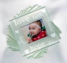 Good Wishes Pearlized Photo Glass Photo Coasters Set of 12 -  DIY Picture Gifts - $21.83