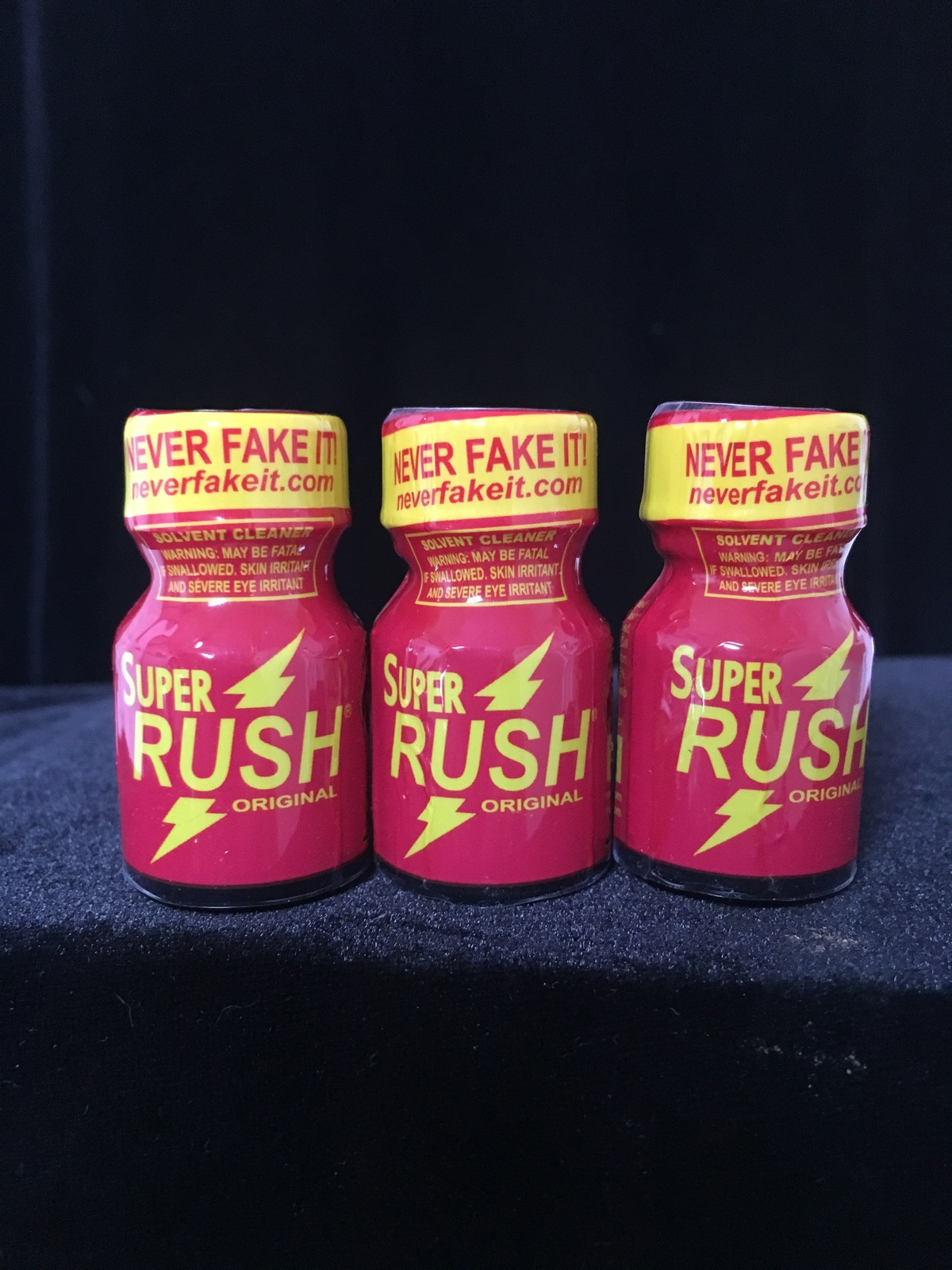 SUPER RUSH PWD VHS & DVD CLEANING SOLVENT 3 BOTTLE SPECIAL (FREE SHIPPING)