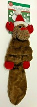 """Duke's Holiday REINDEER Crinkly Squeeky 20"""" Plush Flat Dog Puppy Toy - £10.79 GBP"""