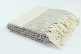 Authentic Turkish Diamond Fouta Cotton Towel Peshtemal Made In Turkey 100% Turki - $11.87