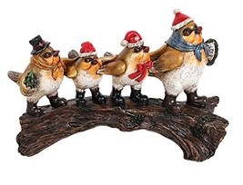 Attraction Design Resin Holiday Twittering Birds on Log Wall Décor - $29.89