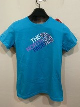 The North Face Girls Blue Short Sleeve T Shirt Mountains Size Large L 14/16 - $18.00