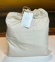 Restoration Hardware Garment-Dyed Crochet Linen Duvet Full/Queen Petal N... - $199.99