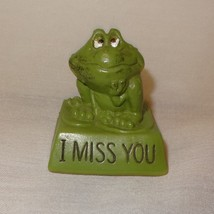 """Vintage Frog Wallace Berrie Statue Figurine 2"""" I Miss You Plastic - $9.89"""
