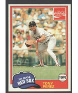 Boston Red Sox Tony Perez 1981 Topps Coca Cola Coke Baseball Card 8 nr mt - $0.99