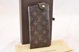 Louis Vuitton Monogram Etui A Lunettes Mm Glasses Case M66544 Lv Auth 7702 - $450.00