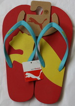 NWT PUMA Women`s Flip Flops Sandals Red Multi 10 - $24.99