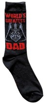 Star Wars Darth Vader World's Greatest Dad Men's Crew Socks Size 6-12 Bl... - $15.85
