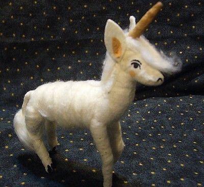 Vintage Inspired Spun Cotton Unicorn