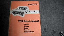 1988 toyota tercel wagon service repair workshop manual oem factory - $11.90