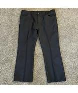 Vintage Levi's 517 Boot Cut Black Polyester Pants Men's Size 44 X 30 - $14.84
