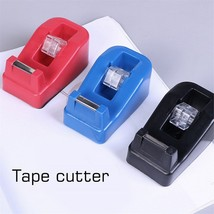 Colorful Small Tape transparent Cutter Plastic Tape Machine Rack Hand To... - $12.50