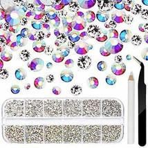 4640pcs Crystal Glass AB Nail Art Rhinestones+Clear Nail Gems (Clear+AB) - $10.13