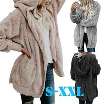 New Arrival Furry Coat Women Fashion Hooded Long Coat Jacket Hoodies Parka Outwe