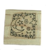 Rubber Wood Stamp Stamping Crafting Stampin Up Moon Stars Baby Shower - $9.89