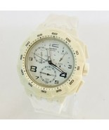 Swatch Mister Pure SUIW402 Men's Chronograph Date Watch WORKS! - $67.63